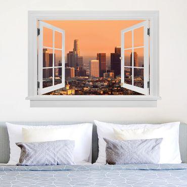 Trompe l'oeil adesivi murali - Finestra aperta su Los Angeles