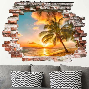 Adesivo murale 3D - Sunrise On The Beach