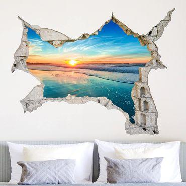 Adesivo murale 3D - Sunrise Sea