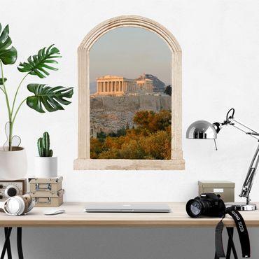 Trompe l'oeil adesivi murali - Finestra su acropoli