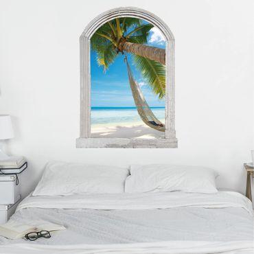 Trompe l'oeil adesivi murali - Finestra di pietra Relaxing Day