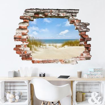 Adesivo murale - Spiaggia sul Mare del Nord