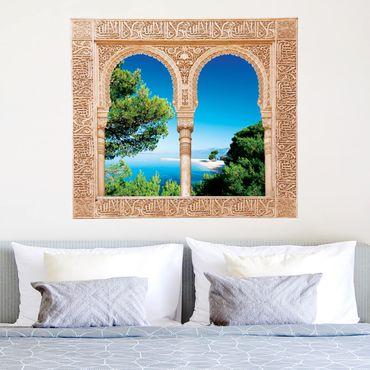 Trompe l'oeil adesivi murali - Finestra sul paradiso nascosto