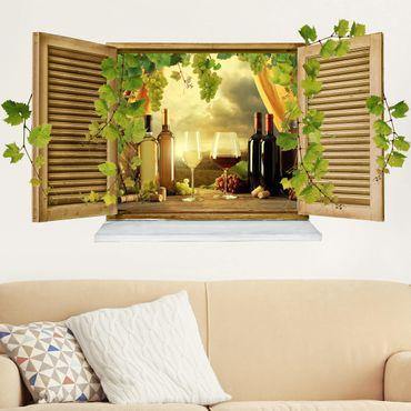 Adesivo murale 3D - Wine Still Life - orizzontale 2:1