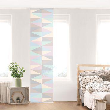 Tende scorrevoli set - Triangles In Pastel Colors