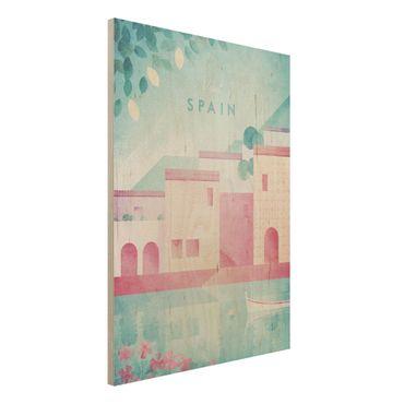 Stampa su legno - Poster di viaggio - Spagna - Verticale 4:3
