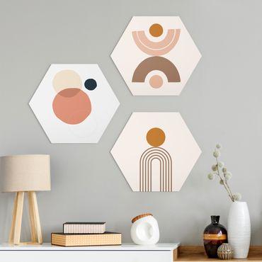 Esagono in Alu-dibond - Line Art Abstract Shapes Set II