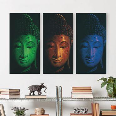 Stampa su tela 3 parti - Triple Buddha - Verticale 2:1