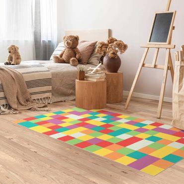 Tappeti in vinile - Mosaico colorato circo - Verticale 1:2