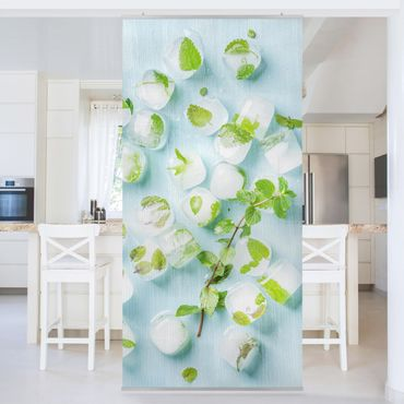 Tenda a pannello - Ice Cubes With Mint Leaves - 250x120cm