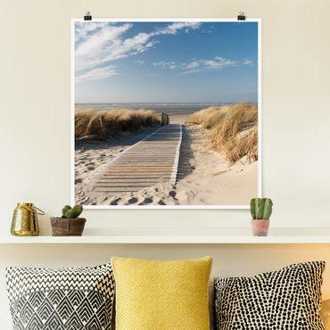 Poster - Spiaggia del Mar Baltico - Quadrato 1:1