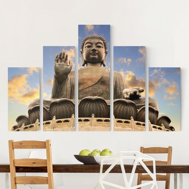 Stampa su tela 5 parti - big Buddha