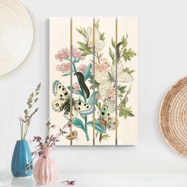 Stampa su legno - Britannico Butterflies I - Verticale 3:2