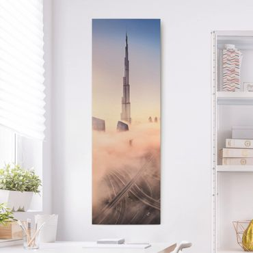 Stampa su tela - Heavenly skyline di Dubai - Pannello