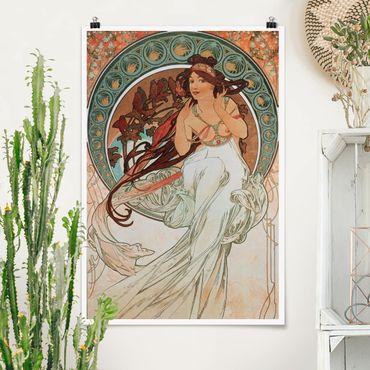 Poster - Alfons Mucha - Quattro arti - Musica - Verticale 3:2