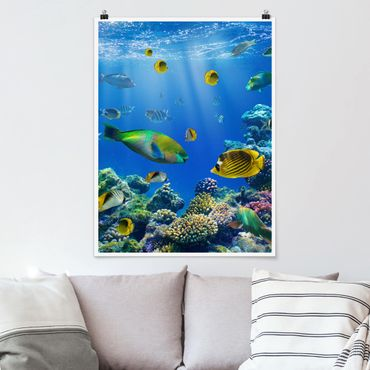 Poster - Underwater Lights - Verticale 4:3