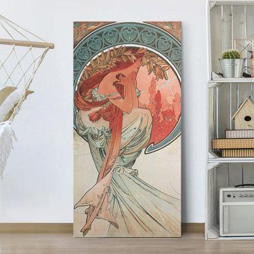 Quadri su tela - Alfons Mucha - Quattro arti - Poesia