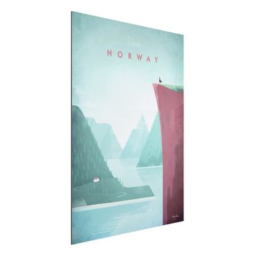 Stampa su alluminio - Poster di viaggio - Norvegia - Verticale 4:3