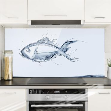 Paraschizzi in vetro - Liquid Silver Fish