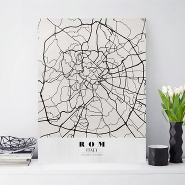 Stampa su tela - Rome City Map - Classical - Verticale 3:4
