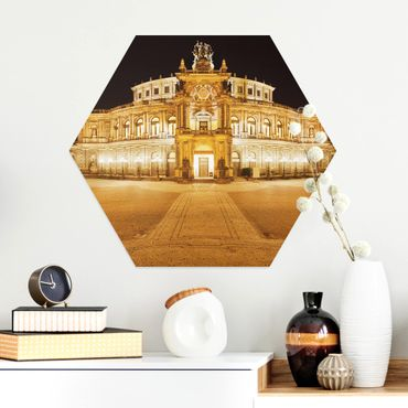 Esagono in Alluminio Dibond - Teatro dell'Opera di Dresda