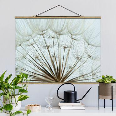 Foto su tessuto da parete con bastone - Bella Dandelion Macro Shot - Orizzontale 3:4