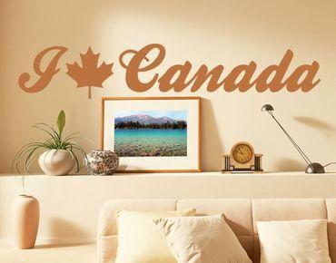 Adesivo murale no.EK158 I Love Canada