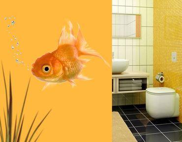 Adesivo murale no.639 Golden Fishie