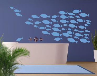 Adesivo murale no.KA12 Shoal of fish