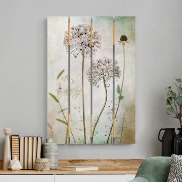 Stampa su legno - Porro Flowers In pastello - Verticale 3:2