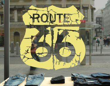 Adesivo per finestre - No.EK165 Route 66 II