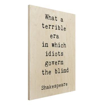 Stampa su legno - Quale terribile Era Shakespeare - Verticale 4:3