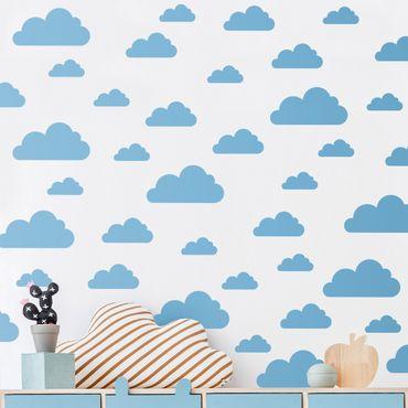Tatuaggio murale monocromatico - 40 Set di nuvole