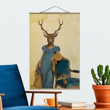 Foto su tessuto da parete con bastone - Ritratto di animali - cervi Lady - Verticale 3:2