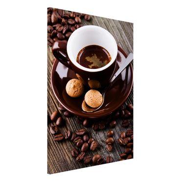 Lavagna magnetica - Fagioli della tazza di caffè con il caffè - Formato verticale 2:3