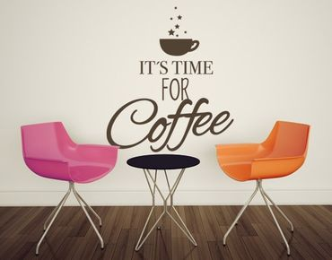 Adesivo murale no.EV34 Time for Coffee