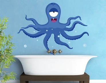 Adesivo murale no.JS92 Calamary-Monster