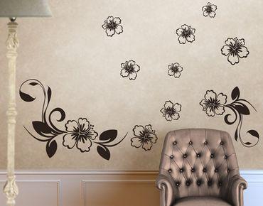 Adesivo murale no.CA10 Dream Of Hibiscus Set
