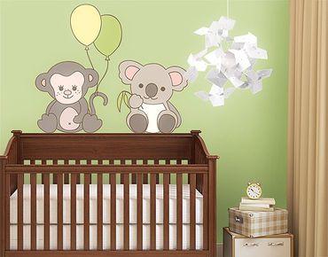 Adesivo murale no.EV69 Monkey & Koala