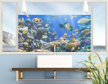 Decorazione per finestre Underwater Reef