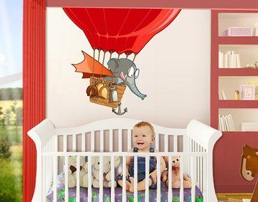 Adesivo murale Flying Farm Balloon-Elephant