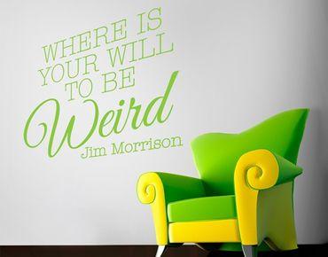Adesivo murale no.EV76 Jim Morrison