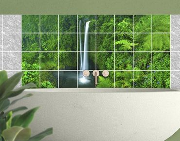 Adesivo per piastrelle - Waterfall Paradiesischer