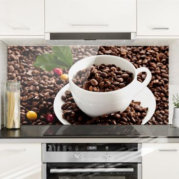 Paraschizzi in vetro - Coffee Cup With Roasted Coffee Beans