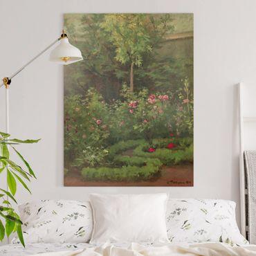 Quadri su tela - Camille Pissarro - A Rose Garden