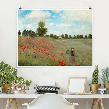 Poster - Claude Monet - Campo di papaveri A Argenteuil - Orizzontale 3:4