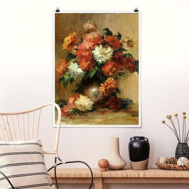 Poster - Auguste Renoir - Natura morta con dalie - Verticale 4:3