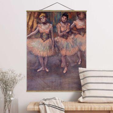 Foto su tessuto da parete con bastone - Edgar Degas - Ballerine Prima exercice - Verticale 4:3