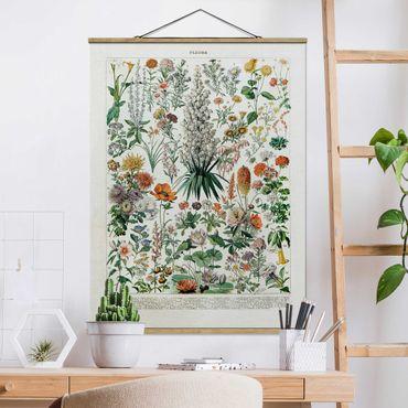 Foto su tessuto da parete con bastone - Vintage Consiglio Flowers I - Verticale 4:3