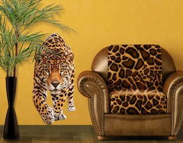 Adesivo murale no.648 Creeping Jaguar 70x148cm